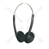 Black Stereo Headphones with Adjustable Headband