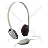 White Switched Mono/Stereo Computer Headphones