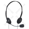 Stereo Computer Headphones with Mic (2.5 m Lead)