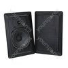 Black 50 W Flush Wall Mount Speaker System Supplied with Mounting Brackets