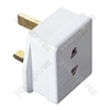 White 1 A Shaver Adaptor