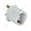 White 13 A UK Visitors' Travel Adaptor (European Schuko to UK 13 A Plug). Bulk