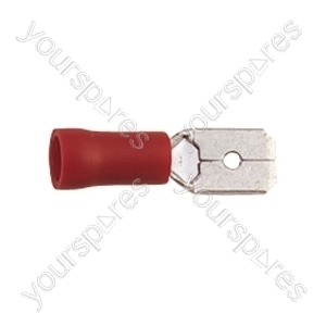 Red 6.3 mm Blade Crimp Terminal. Bags of 100