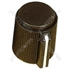 Black Ribbed Plastic Pointer Knob with Black Coloured Cap