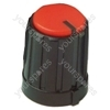 Black Pointer Rotary Knob with Red Colour Cap and Push On Fitting