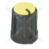 Black Pointer Rotary Knob with Yellow Coloured Cap
