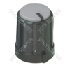 Black Pointer Rotary Knob with Grey Coloured Cap