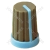 Grey Rubber Touch Rotary Knob with Blue Coloured Pointer/Skirt