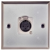 Silver AV Wall Plate with XLR Socket