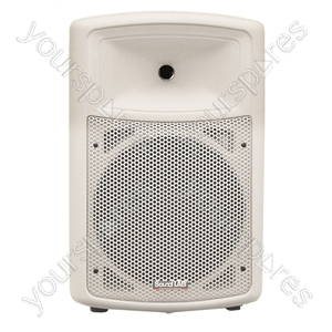 Soundlab White High Quality 150 W ABS Plastic 10&quot; Full Range Cabinet