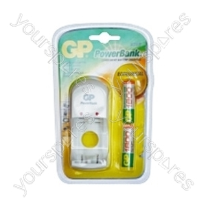 GP Batteries PB360BSW180-C2 Power Bank Charger (With Batteries)