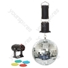 "Cheetah 6"" Mirror Ball Party Set"