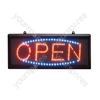 Large Red/Blue Landscape Open Sign With Hanging Kit.