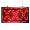 Large Red Static XXX LED Sign