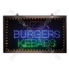 Large Multicoloured Pizza/Burgers/Kebabs LED Sign