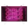 Large Pink 'Girls, Girls, Girls' LED Sign
