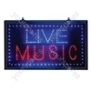 Large Red/Blue Live Music LED Sign