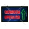Large Blue/Green/Red 'Showroom Upstairs' LED Sign