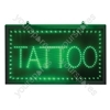 Large Blue Tattoo LED Sign