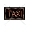 Large Static Red LED Taxi Sign