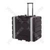 Soundlab 8U ABS Rack Case with Wheels