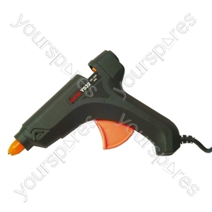 European Black 40W Large Hot Melt Glue Gun With 1.4m Double Insulated Lead