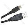 Black USB A to USB Mini B 2 m Lead