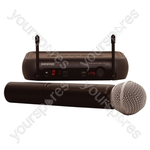 Shure Black PGX24/SM58 Switchable UHF System