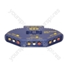 Blue 3 Way Phono Selector Switch
