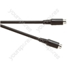 Black 2 m Screened SVHS 4 Pin Plug to SVHS 4 Pin Plug