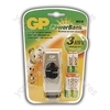 GP Batteries PB510BSR210-60-C4 Power Bank Fast Travel Charger (With 2 x 2100 mAh AA & 2 x 600 mAh AAA Batteries)