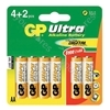 GP Batteries Card of 4 AA Ultra Alkaline Batteries + 2 Free