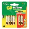 GP Batteries Card of 4 AAA Ultra Alkaline Batteries + 2 Free