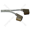 Silver 1.5 m Premium Multicore Screened Scart Plug to Scart Plug