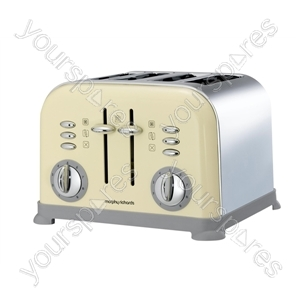 Accents Country Cream 4 Slice Toaster