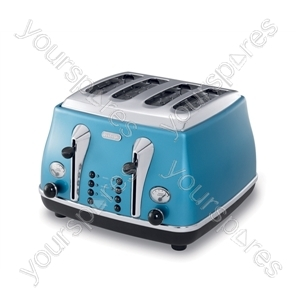 Icona 4 Slice Azure Blue Toaster
