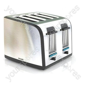 Brushed Steel 4 Slice Toaster
