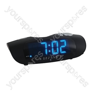 AM/FM Radio Alarm Clock Large Blue LED Display