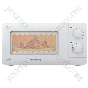 White Compact Manual Microwave Oven