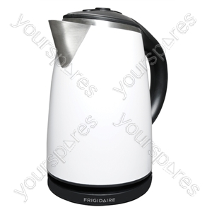 1.7 Litre 3kW Stainless Steel Kettle in White
