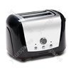 Accents Black 2 Slice 2 Slot Polished Toaster