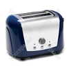 Accents Blue 2 Slice 2 Slot Polished Toaster