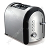 Meno Brushed 2 Slice 2 Slot Toaster