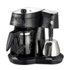 Mr Cappuccino Filter Coffee Maker with Milk Frother, Anti-Drip Device, Fastbrew, and Thermostatic Hotplate to Heat Milk and Keep Coffee Warm.