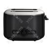 Debut 2 Slice Toaster in Black & Grey