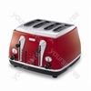 Icona 4 Slice Scarlet Red Toaster