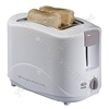 Two Slice Plastic Coolwall Toaster with Variable Browning Control, Crumb Tray, and Cancel Button.