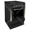 50cm Single Cavity Electric Cooker - Black/Stainless Steel