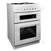 50cm Twin Cavity Electric Cooker - White