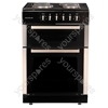 60cm Twin Cavity Electric Cooker - Black/Silver